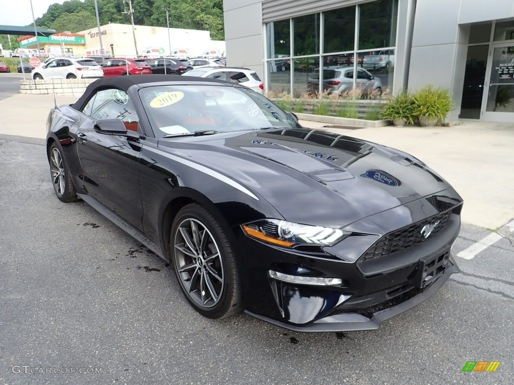 2019 Mustang EcoBoost Premium Convertible - Shadow Black / Showstopper Red photo #8