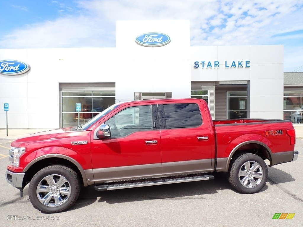 2020 F150 Lariat SuperCrew 4x4 - Rapid Red / Black photo #1