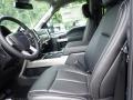 2020 Ford F250 Super Duty Black Interior Front Seat Photo