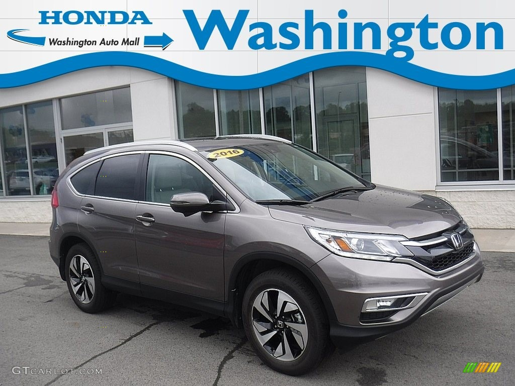 2016 CR-V Touring AWD - Urban Titanium Metallic / Beige photo #1