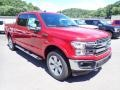 2020 Rapid Red Ford F150 Lariat SuperCrew 4x4  photo #3