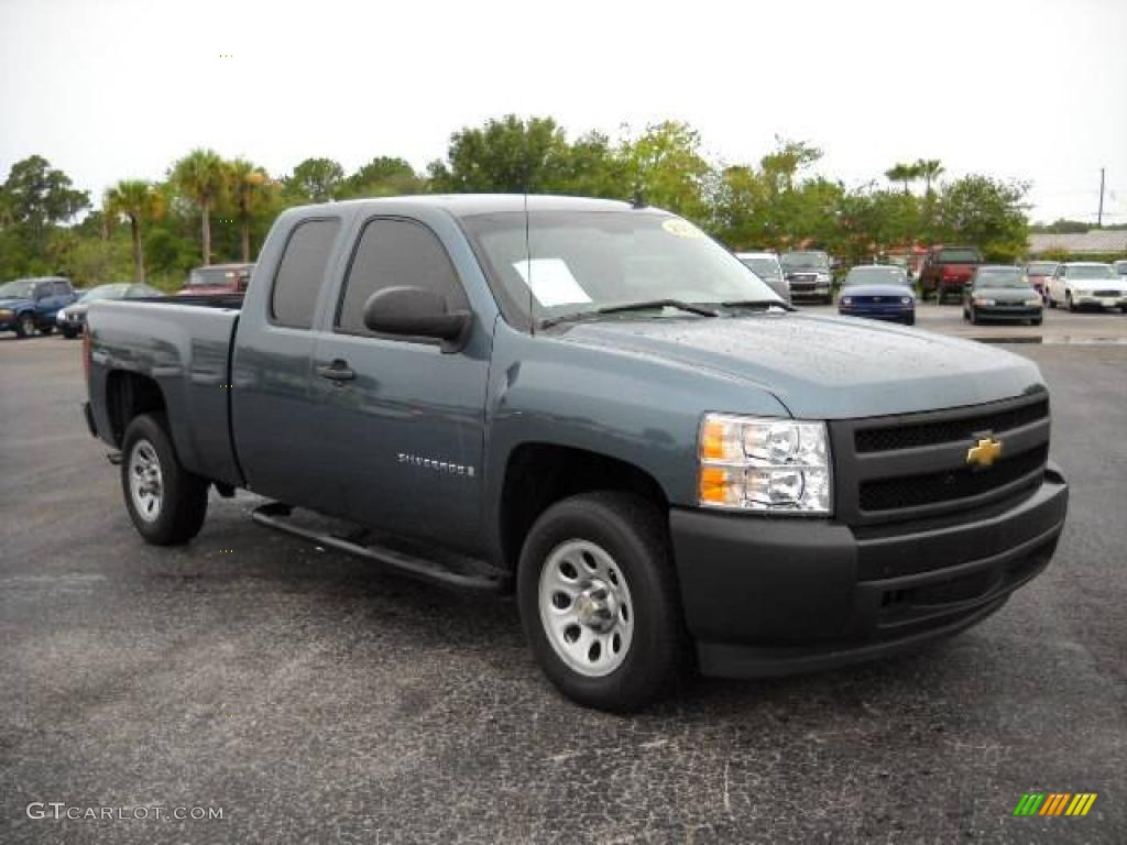 2008 Silverado 1500 Work Truck Extended Cab Blue Granite Metallic Dark Anium Photo