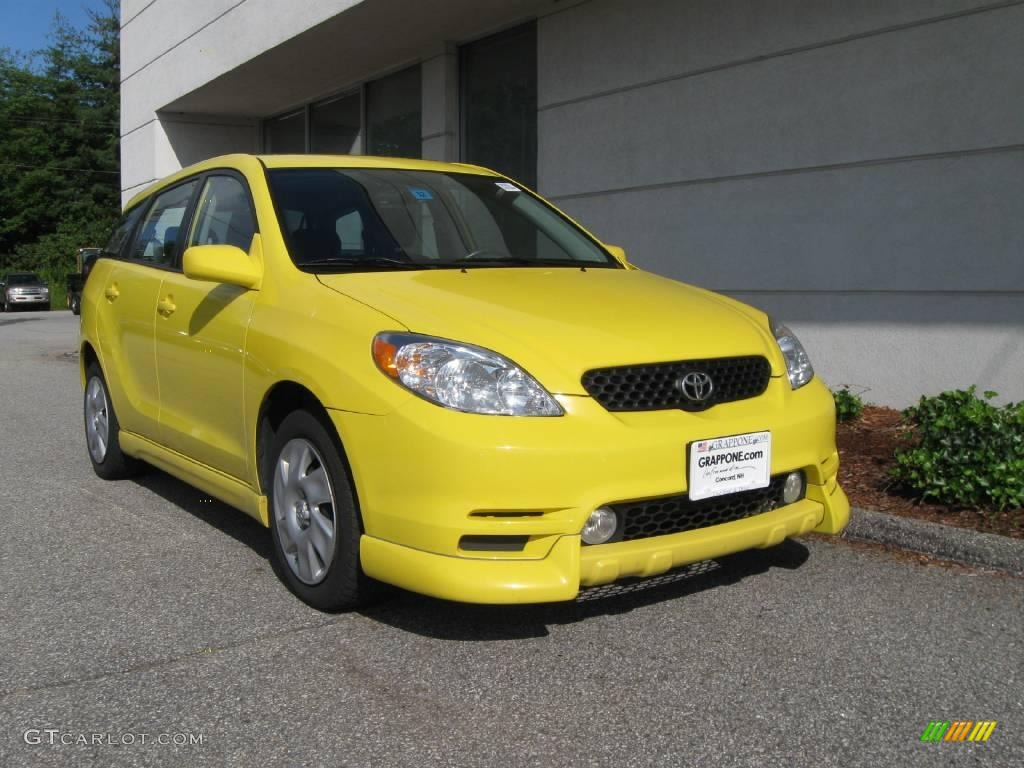 Solar Yellow Toyota Matrix