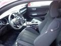2020 Ford Mustang Ebony Interior Front Seat Photo