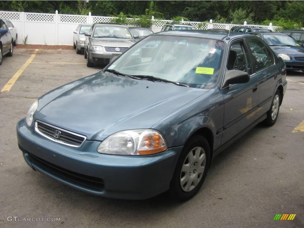 1998 Cyclone Blue Metallic Honda Civic Lx Sedan  13831114
