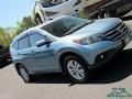 2014 Twilight Blue Metallic Honda CR-V EX-L AWD  photo #31