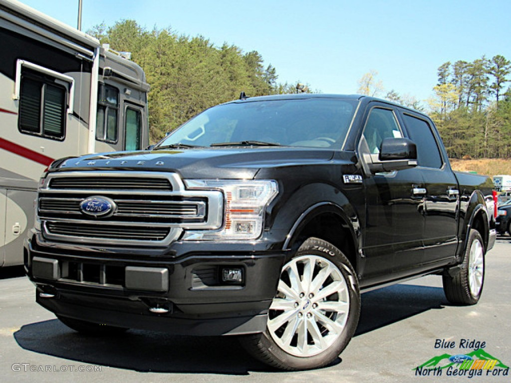 2020 F150 Limited SuperCrew 4x4 - Agate Black / Limited Unique Camelback photo #1
