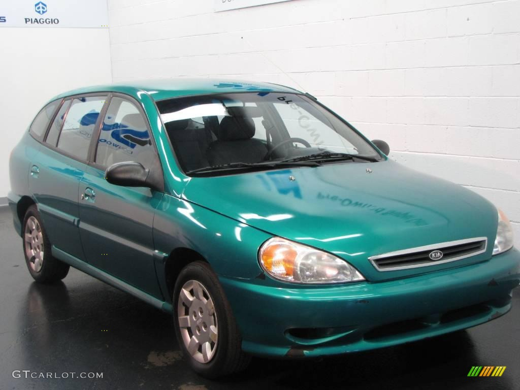 2002 emerald green kia rio cinco hatchback 13830322. Black Bedroom Furniture Sets. Home Design Ideas