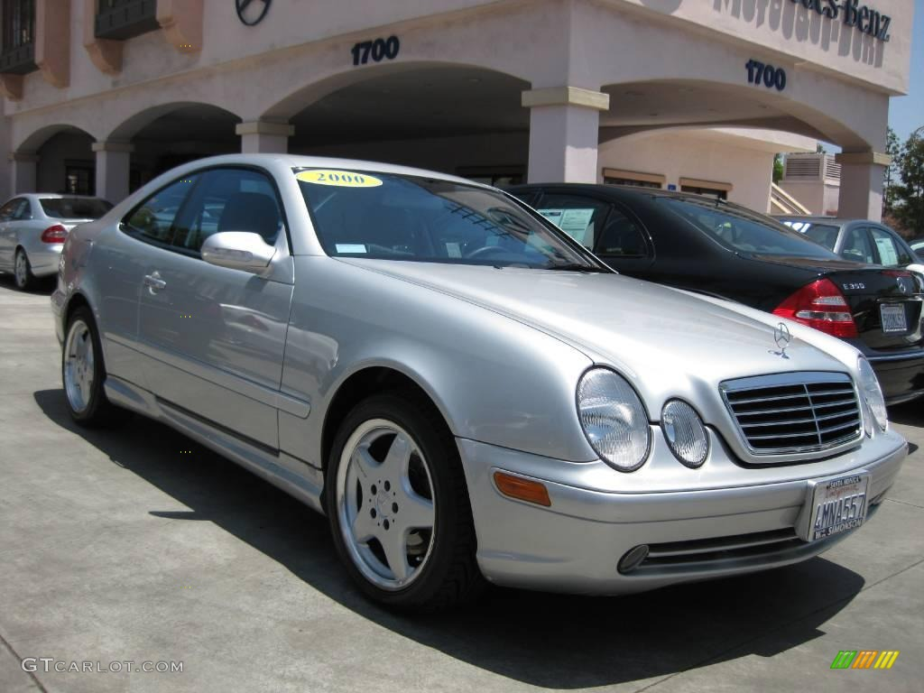 2000 brilliant silver metallic mercedes benz clk 430 coupe for Mercedes benz silver