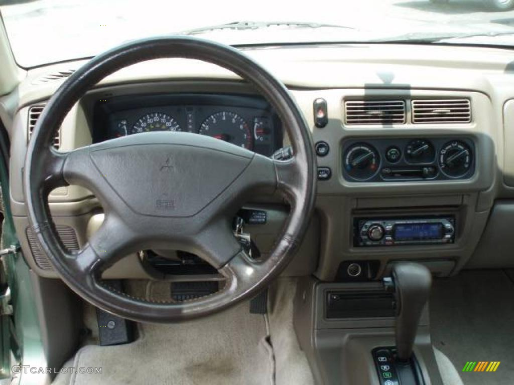 1998 montero sport xls navajo green metallic beige photo 7 - 1998 Mitsubishi Montero Interior