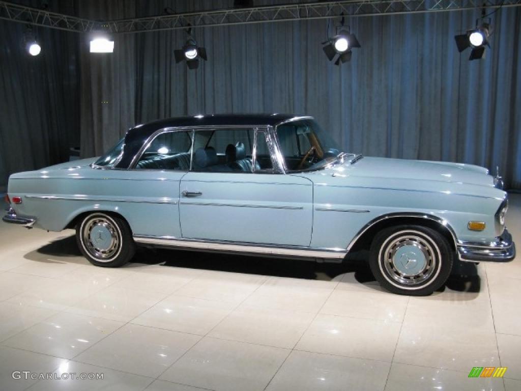 1971 robins egg blue mercedes benz s class 280se 3 5 coupe for Mercedes benz s class colours