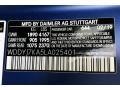 2020 AMG GT R Coupe designo Brilliant Blue Magno (Matte) Color Code 644