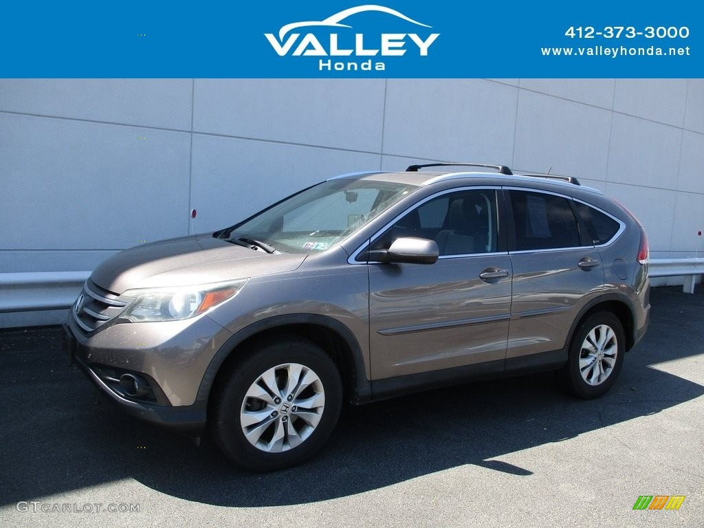 2012 CR-V EX 4WD - Urban Titanium Metallic / Black photo #1