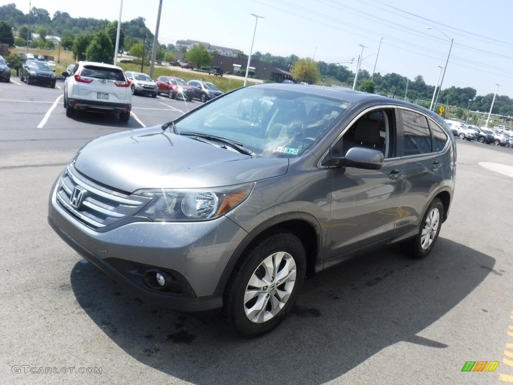 2012 CR-V EX 4WD - Polished Metal Metallic / Gray photo #5