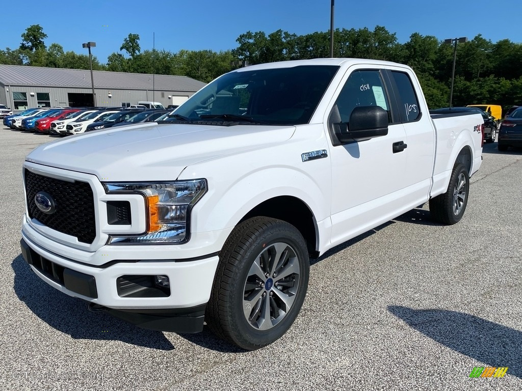2020 F150 STX SuperCab 4x4 - Oxford White / Black photo #1