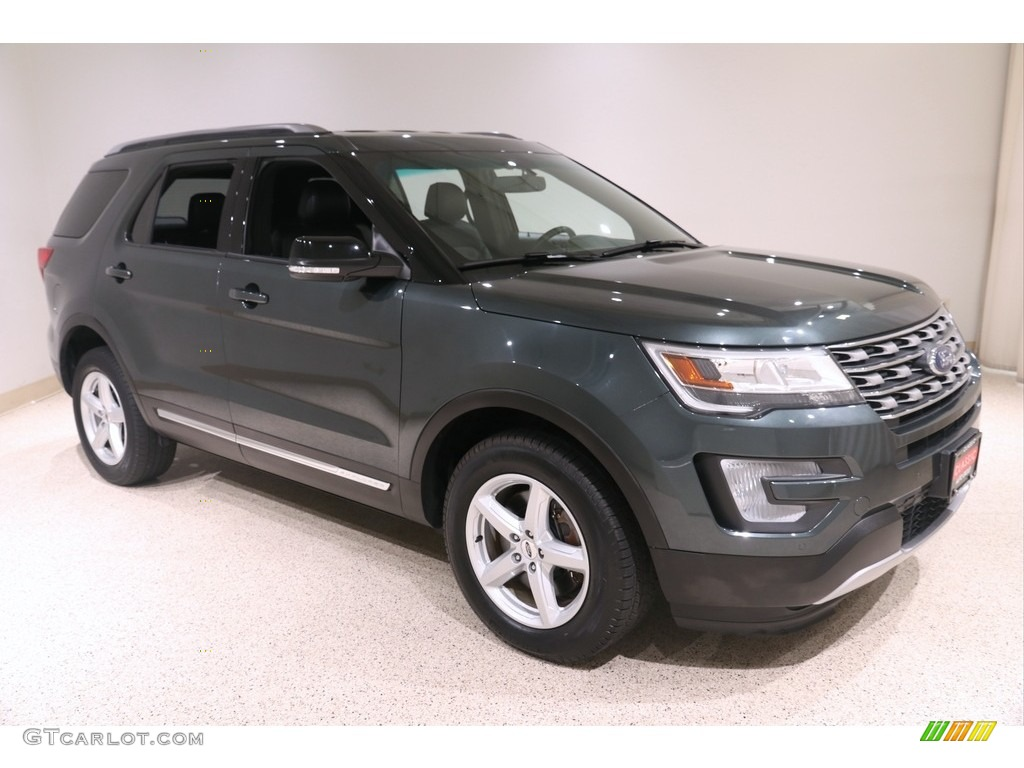 2016 Explorer XLT 4WD - Guard Metallic / Ebony Black photo #1