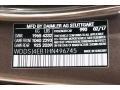 2017 CLA 250 Coupe Cocoa Brown Metallic Color Code 990