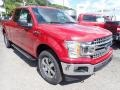 2020 Rapid Red Ford F150 XLT SuperCab 4x4  photo #3
