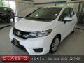 White Orchid Pearl 2015 Honda Fit LX