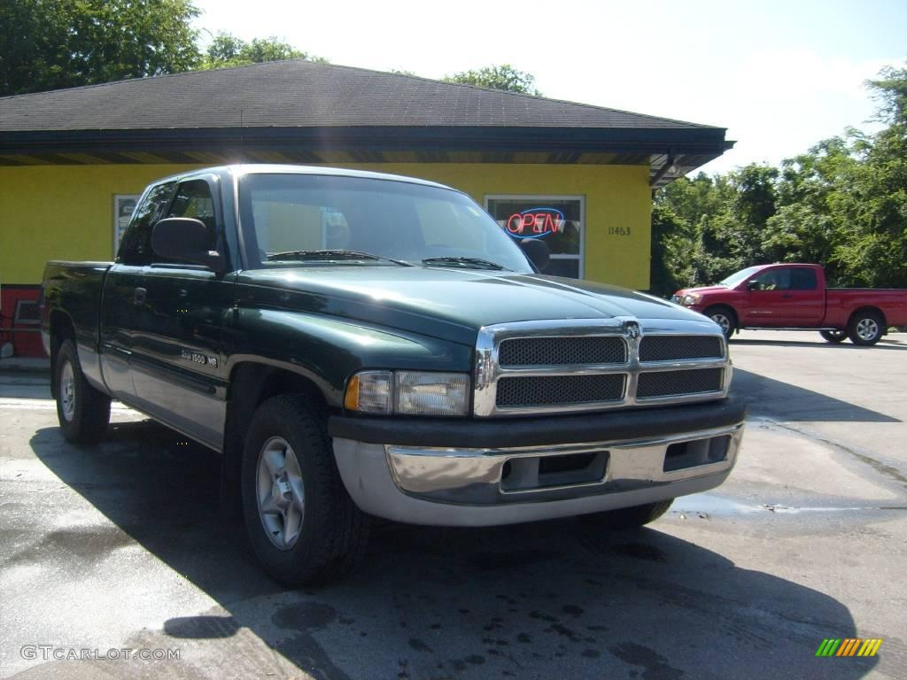 1999 forest green pearl dodge ram 1500 slt extended cab 13893369 car color. Black Bedroom Furniture Sets. Home Design Ideas