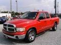 2002 Flame Red Dodge Ram 1500 SLT Plus Quad Cab  photo #7