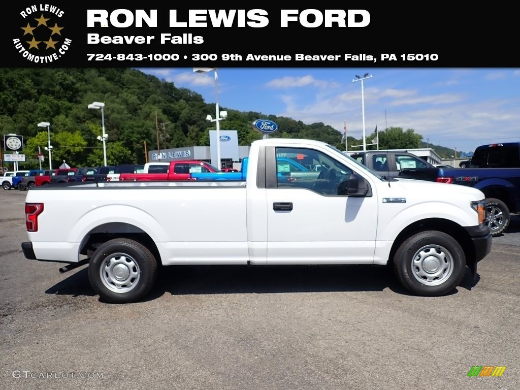 2020 F150 XL Regular Cab - Oxford White / Medium Earth Gray photo #1