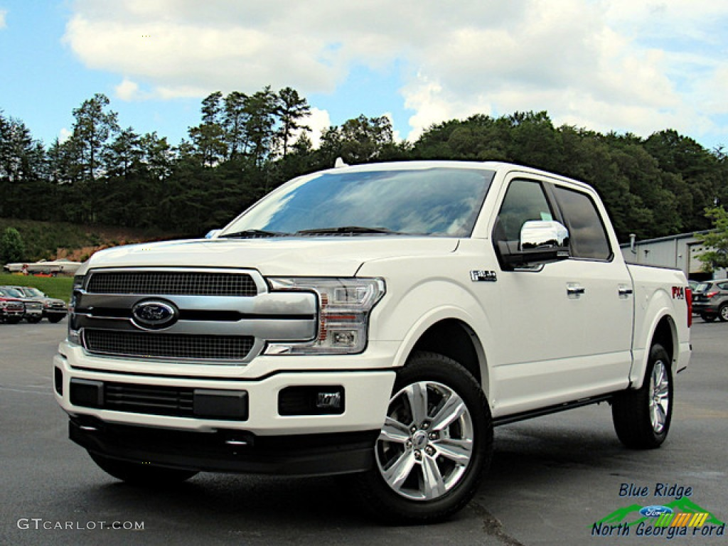 2020 F150 Platinum SuperCrew 4x4 - Star White / Platinum Unique Black photo #1