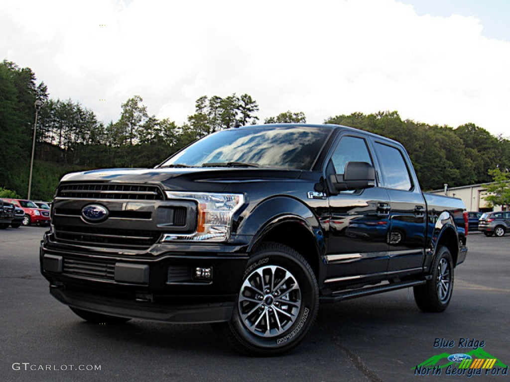 2020 F150 XLT SuperCrew 4x4 - Agate Black / Black photo #1