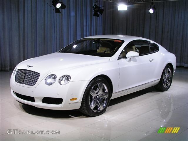 Glacier White Bentley Continental Gt