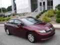 Crimson Pearl 2012 Honda Civic LX Sedan