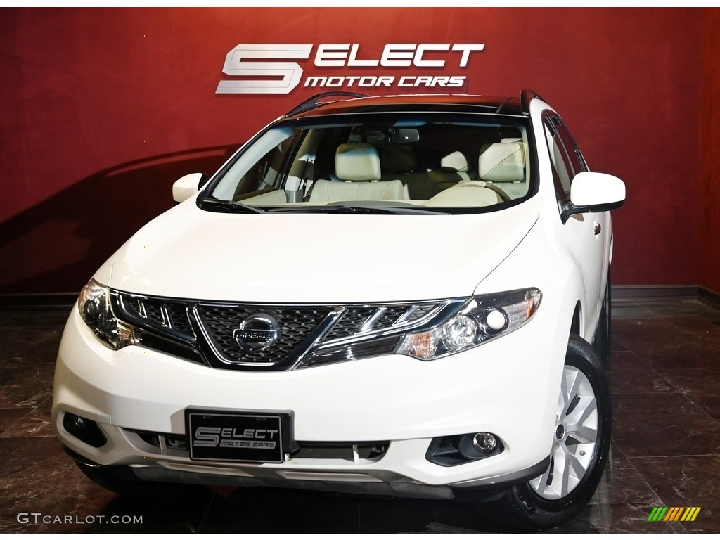 2011 Murano SL AWD - Glacier White Pearl / Beige photo #1