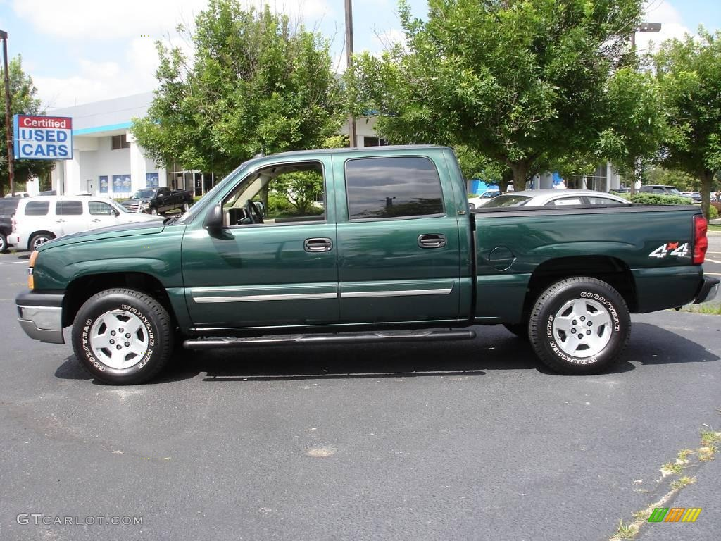 2004 dark green metallic chevrolet silverado 1500 lt crew cab 4x4 13875306 photo 5 gtcarlot. Black Bedroom Furniture Sets. Home Design Ideas