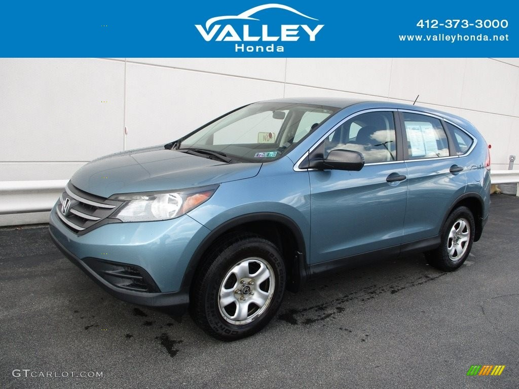 2014 CR-V LX AWD - Mountain Air Metallic / Black photo #1