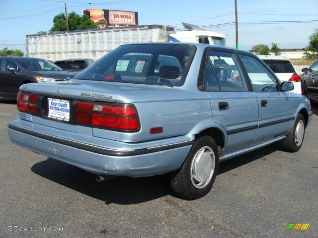 1992 ice blue pearl metallic toyota corolla dx sedan. Black Bedroom Furniture Sets. Home Design Ideas