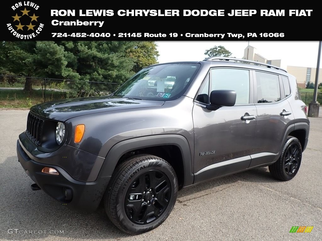 2020 Renegade Sport 4x4 - Granite Crystal Metallic / Black photo #1
