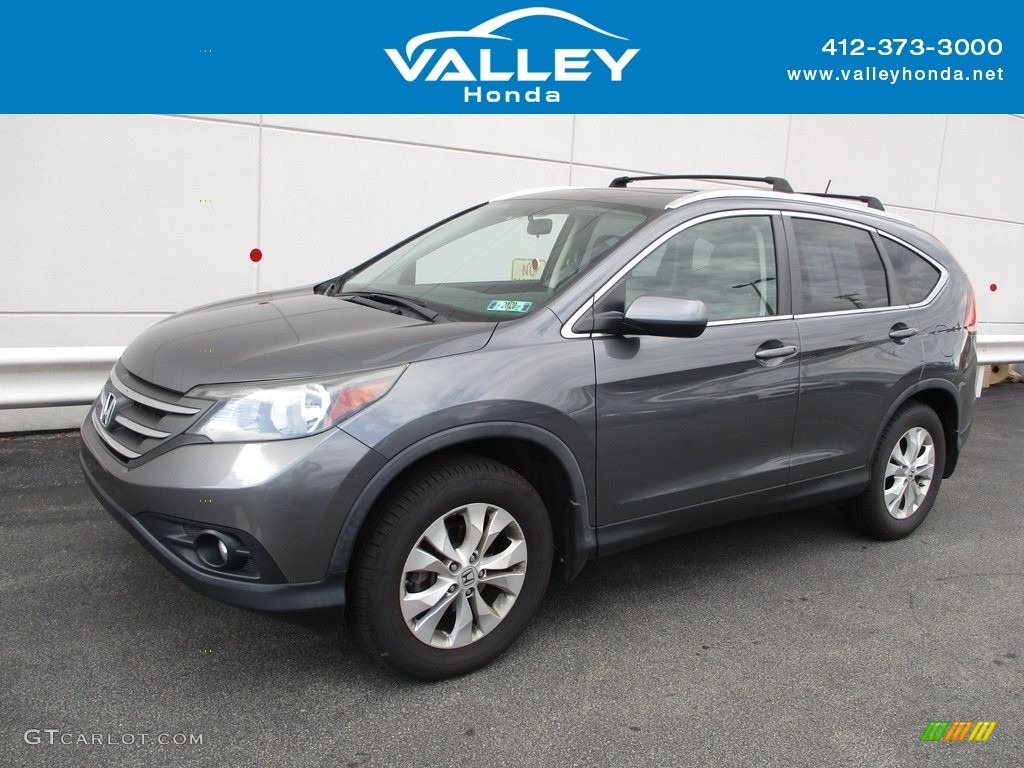 2013 CR-V EX-L AWD - Urban Titanium Metallic / Gray photo #1