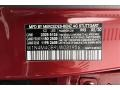 2020 GLB 250 Patagonia Red Metallic Color Code 993
