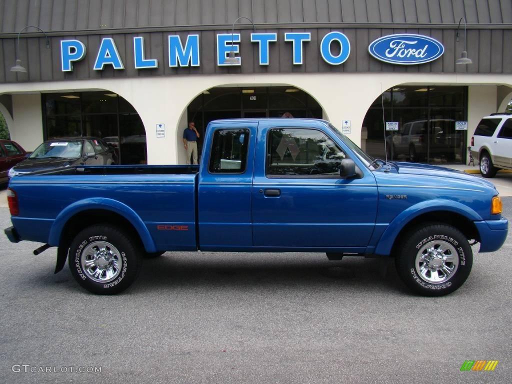 Bright island blue metallic ford ranger