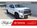 2021 Super White Toyota Tundra SR5 CrewMax 4x4  photo #1