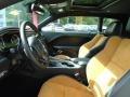 2020 Dodge Challenger Black/Caramel Interior Front Seat Photo