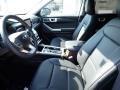 2020 Ford Explorer Ebony Interior Front Seat Photo