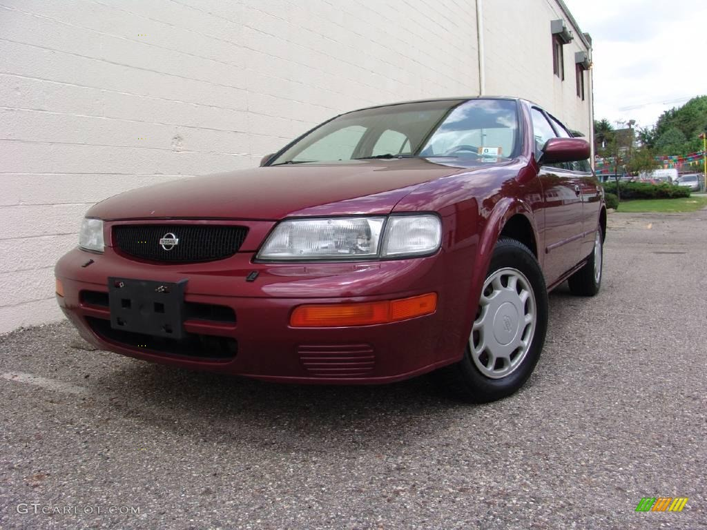 1996 ruby pearl nissan maxima gxe 13884363 car color galleries. Black Bedroom Furniture Sets. Home Design Ideas