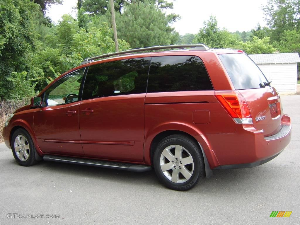 2004 autumn red metallic nissan quest 3.5 se #13881082 | gtcarlot