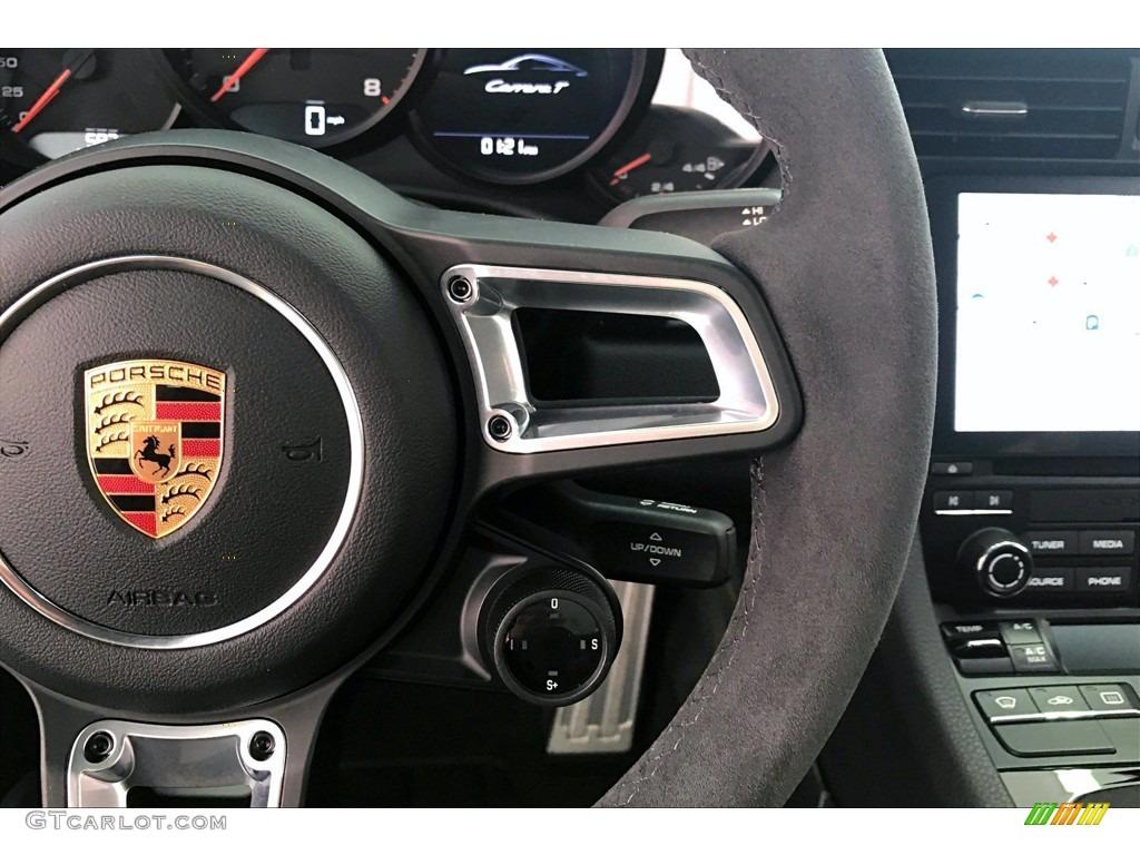2018 Porsche 911 Carrera T Coupe Black w/Alcantara Steering Wheel Photo #139868146