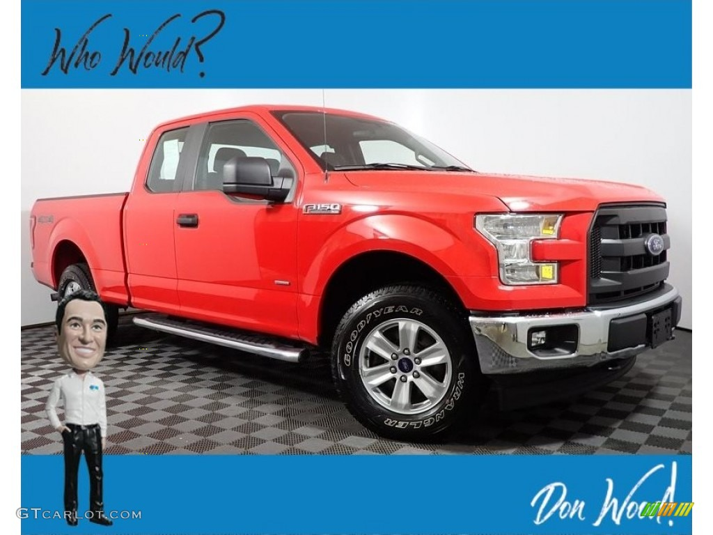 2017 F150 XL SuperCab 4x4 - Race Red / Earth Gray photo #1