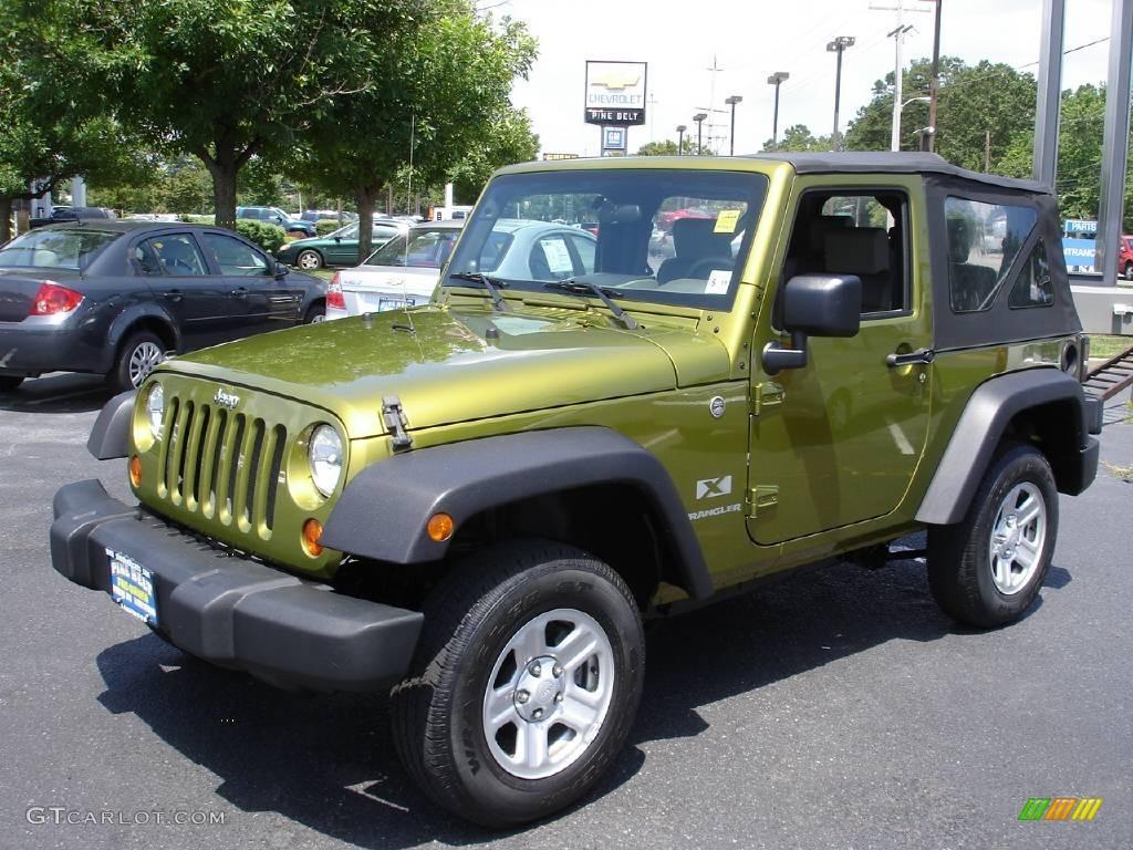 2007 rescue green metallic jeep wrangler x 4x4 #13875324