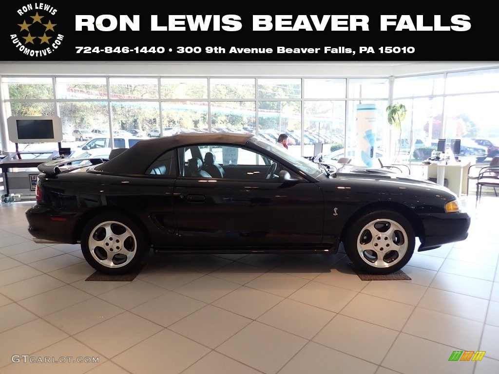 1996 Mustang SVT Cobra Convertible - Black / Black photo #1
