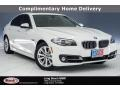 Alpine White 2015 BMW 5 Series 528i Sedan
