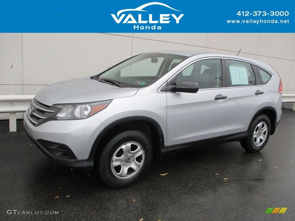 2014 CR-V LX AWD - Alabaster Silver Metallic / Black photo #1