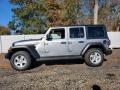 2021 Billet Silver Metallic Jeep Wrangler Unlimited Sport 4x4  photo #3